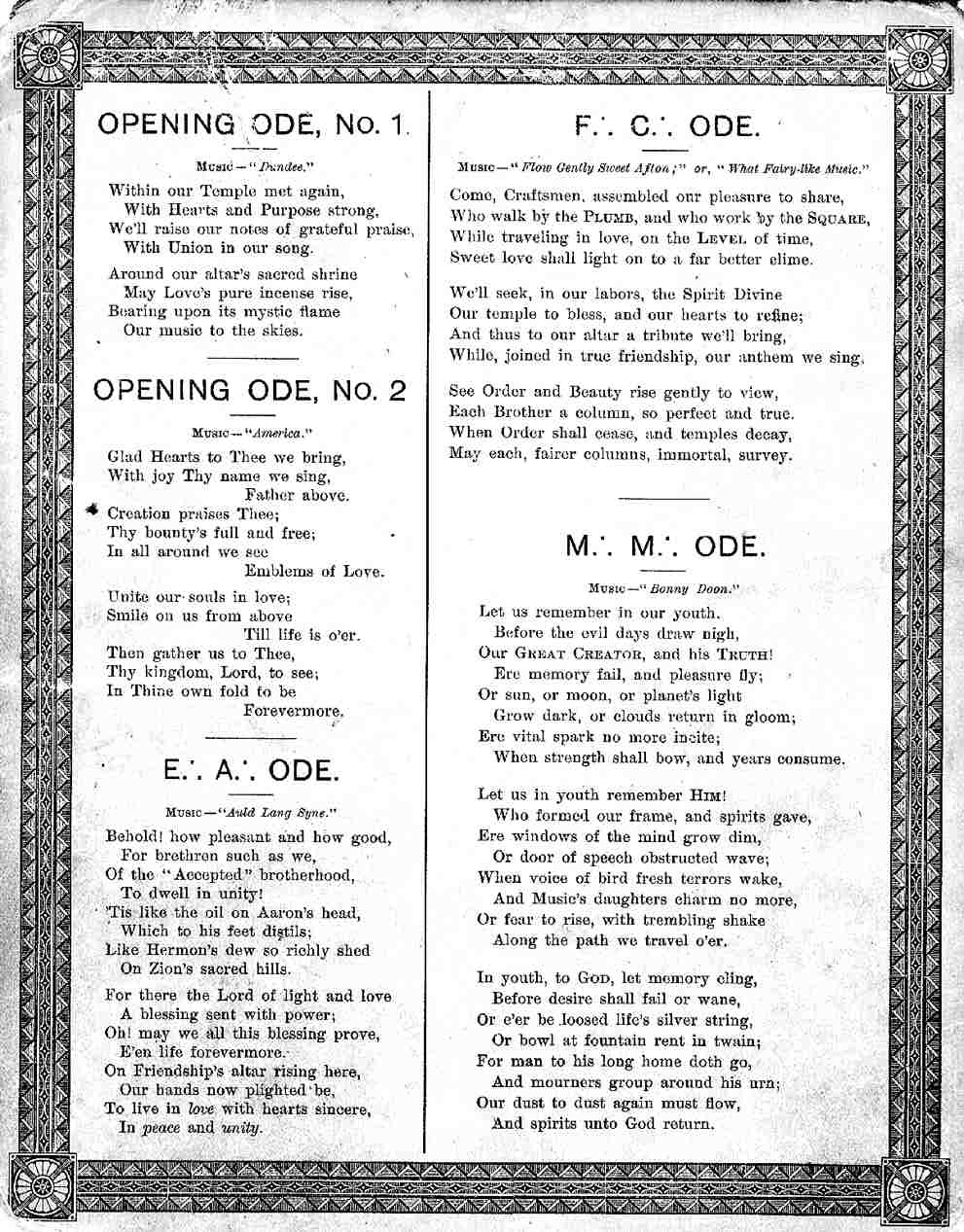 song chart obverse